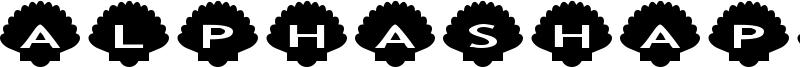 AlphaShapes shells Font