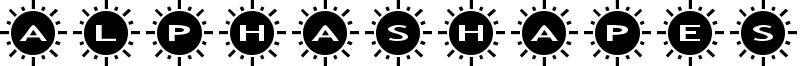 AlphaShapes Sunshine 2 Font