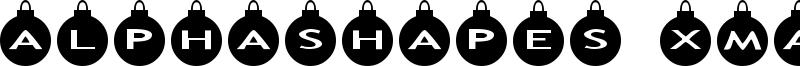 AlphaShapes xmas balls Font