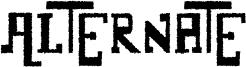 Alternate Font