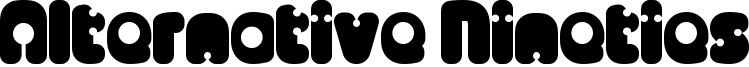 Alternative Nineties Font