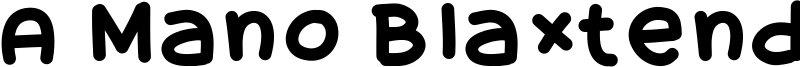 A Mano Blaxtendida Font