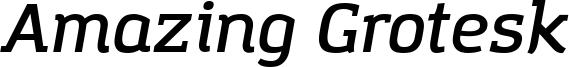 Amazing Grotesk Demi Italic.otf