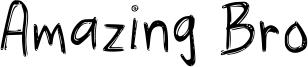 Amazing Bro Font