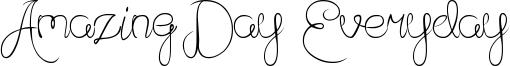 Amazing Day Everyday Font