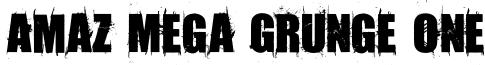 Amaz Mega Grunge One Font