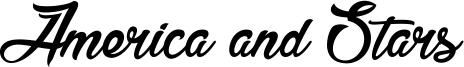 America and Stars Font