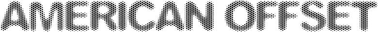 American Offset Font