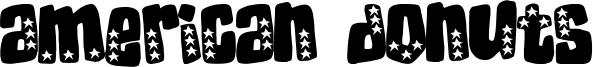 American Donuts Font
