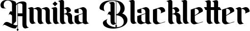 Amika Blackletter Font