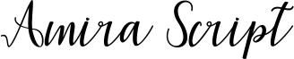 Amira Script Font