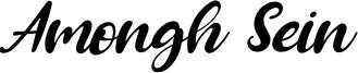 Amongh Sein Font