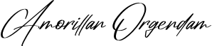 Amorillan Orgendam Font