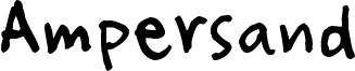 Ampersand Font
