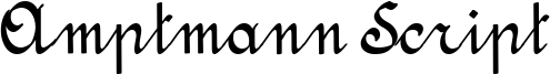 Amptmann Script Font