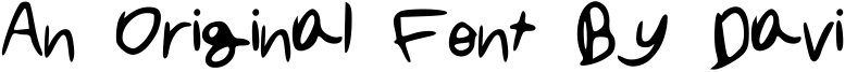 An Original Font By Davi Font