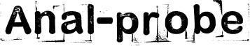 Anal-probe Font