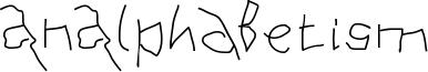 AnAlphaBetism Font