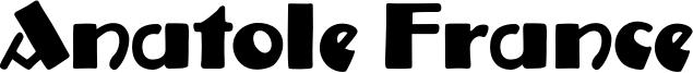 Anatole France Font