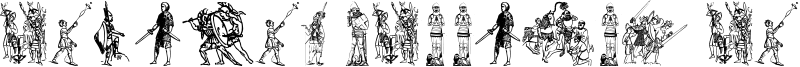 Ancient warriors and weapons TFB Font