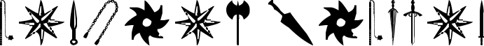 Ancient Weapons Font