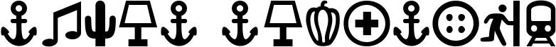Ancla Alphabet Font