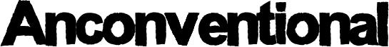 Anconventional Font