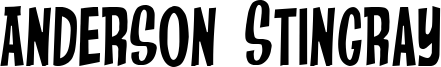 Anderson Stingray Font