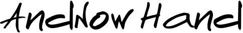 AndNow handwrite.otf