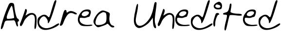 Andrea Unedited Font