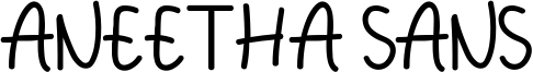 Aneetha Sans Font