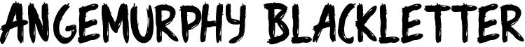 Angemurphy Blackletter Font