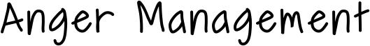 Anger Management Font