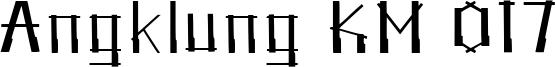 Angklung KM 017 Font