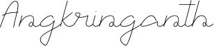 Angkringanth Font