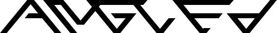 Angled Font