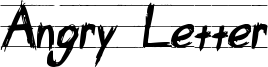 Angry Letter Font