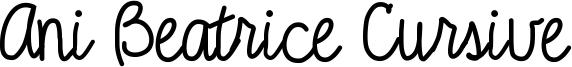 Ani Beatrice Cursive Font