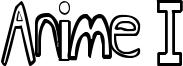 Anime I Font