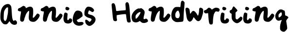 Annies Handwriting Font