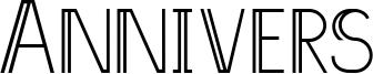 Annivers Font