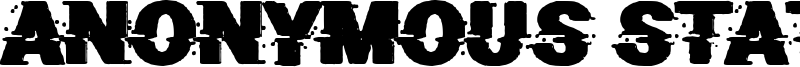 Anonymous State Font