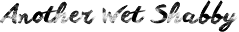 Another Wet Shabby Font