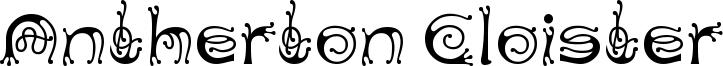 Antherton Cloister Font