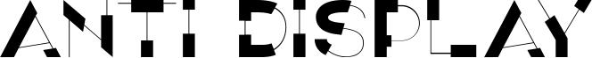 Anti Display Font