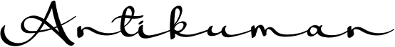 Antikuman Font