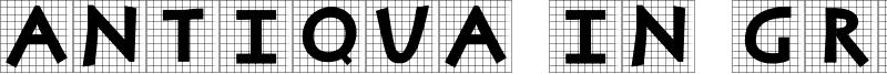 Antiqua In Grid Font