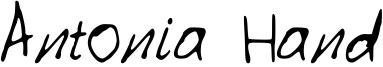 Antonia Hand Font