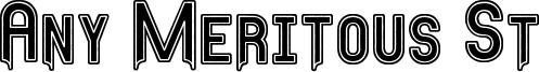 Any Meritous St Font