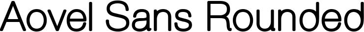 Aovel Sans Rounded Font